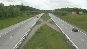 Cars on the highway stock video footage