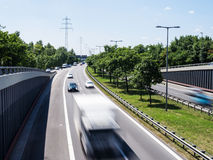 Cars on highway Royalty Free Stock Photography
