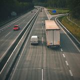 Cars on highway in traffic jam. Stock Photography