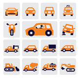 Cars icons Royalty Free Stock Photo