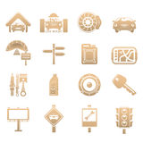 Cars icons Stock Photos