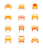 Cars icons | JUICY series Stock Images