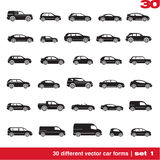 Cars icons set 1 Royalty Free Stock Images