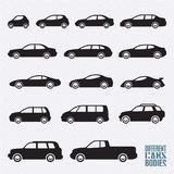 Cars icons set, car types. Cars icons set, different car types Stock Image