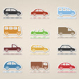 Cars Icons Royalty Free Stock Photos