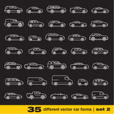 Cars icons set 2. Royalty Free Stock Image