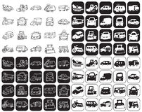 Cars icons set Royalty Free Stock Image