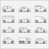 Cars Icons Stock Photography
