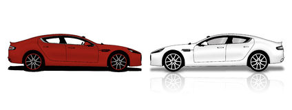 Cars. Illustration of cars and art Royalty Free Stock Images