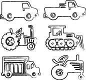 Cars illustrations Royalty Free Stock Images