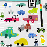 Cars. Image of vehicles that move on a city street Royalty Free Stock Photo