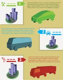 Cars infographics Stock Photography