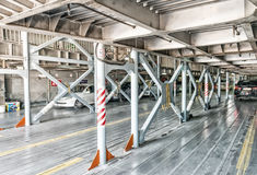 Cars inside a ferry boat Royalty Free Stock Images