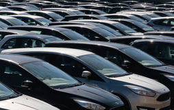 Cars 039. Cars intended for use as rented during the touristic season seen parked in a depot on an industrial area in the outskirts of palma de mallorca in the Royalty Free Stock Images