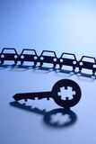 Cars with jigsaw puzzle key Stock Photo