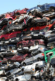 Cars junkyard Royalty Free Stock Image