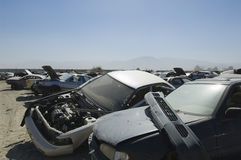 Cars In Junkyard Royalty Free Stock Photos