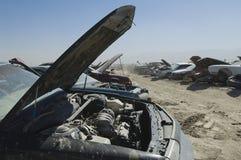 Cars In Junkyard Stock Photo