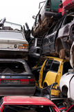 Cars in junkyard Royalty Free Stock Photo