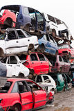 Cars in junkyard Stock Photography
