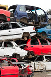 Cars in junkyard Stock Photos