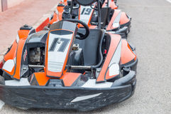 Cars of karting Royalty Free Stock Photography