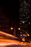 Cars light in modern city Royalty Free Stock Photo
