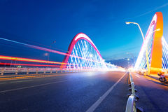 Cars light trails Royalty Free Stock Image