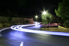 Cars lights late night Stock Image