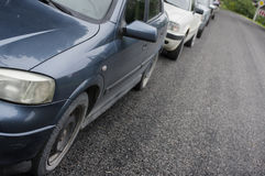 Cars In Line Royalty Free Stock Photos