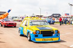 Cars line up before a race on zwartkops stock photography