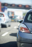 Cars Lined Up In A Traffic Jam On Highway Stock Photography