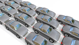 Cars in long queues Stock Image