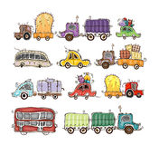 Cars and lorries set Royalty Free Stock Images