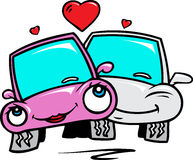 Cars in love Stock Images