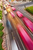 Cars with motion blur Royalty Free Stock Photo