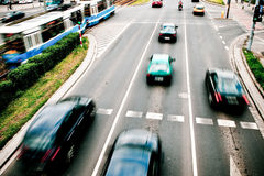 Cars in motion blur Royalty Free Stock Photography