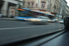 Cars with motion blur Stock Images