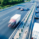 Cars in motion blur on highway,Beijing China Stock Photos