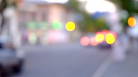 Cars in motion blur on the street stock video footage