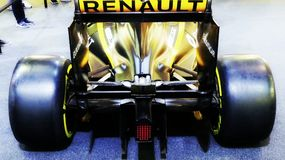 Renault formula bolide royalty free stock photography