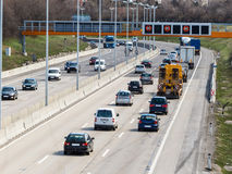 Cars on a motorway Royalty Free Stock Photography