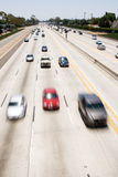 Cars moving on freeway Royalty Free Stock Photo