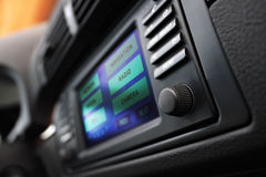 Cars multimedia system display. Royalty Free Stock Images