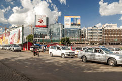 Cars in Nairobi. Cars through the capital of kenya, nairobi. It is an image on a sunny day. The picture was taken in May 2014 royalty free stock photo