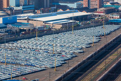 Cars New Import Export Terminal Royalty Free Stock Photo
