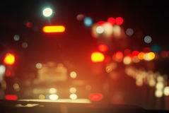 Cars Night City Stopped Not Moving Traffic Road Royalty Free Stock Photos