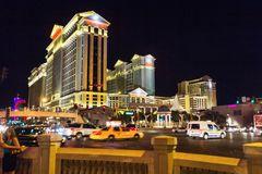 Cars at night in Las Vegas Royalty Free Stock Photo