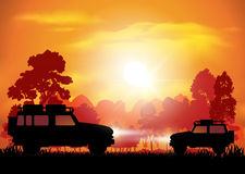 Cars on off road Royalty Free Stock Images