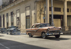 Cars in Old Havana, Cuba. Vintage cars running in Havana, Cuba stock photography